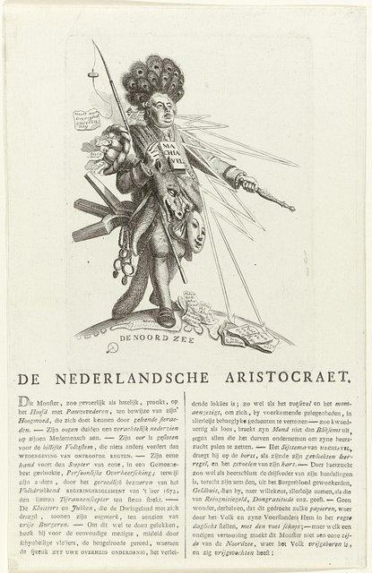 Spotprent op de aristocratie, 1785-1787