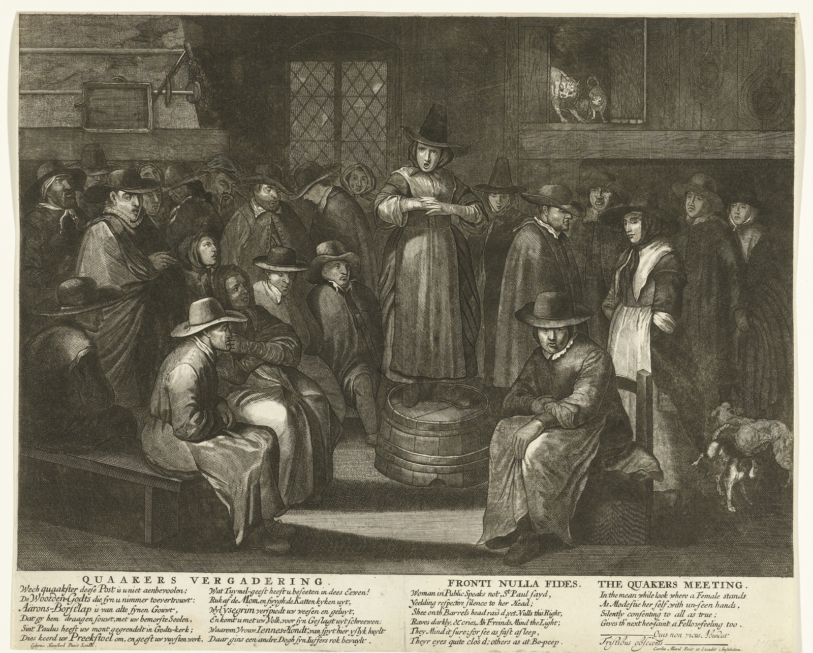 Spotprent op de Engelse Quakers, ca. 1656