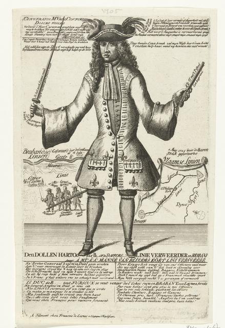 Spotprent op de keurvorst van Beieren, 1705