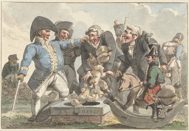 Spotprent op de Tiercering van 1810
