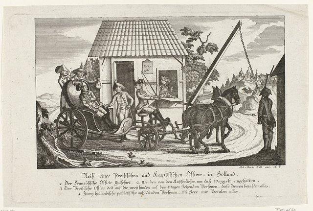 Spotprent op de vrede tussen Nederland en de keizer, 1785