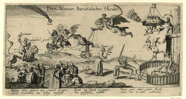 Spotprent op Johan van Oldenbarnevelt, 1618