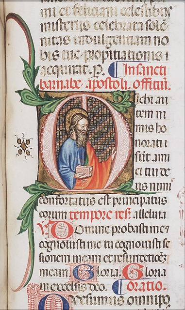 St. Barnabas of Cyprus, holding a book