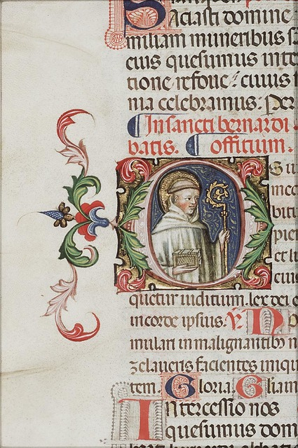 St. Bernard of Clairvaux holding a crozier and a book