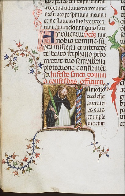 St. Dominic of Calerueja holding a palm-branch and a book