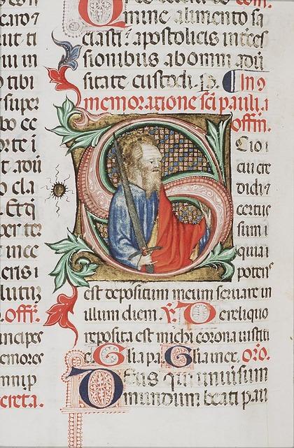 St. Paul holding a sword
