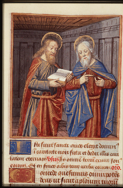 St. Simon Zelotes holding a book and St. Jude Thaddaeus