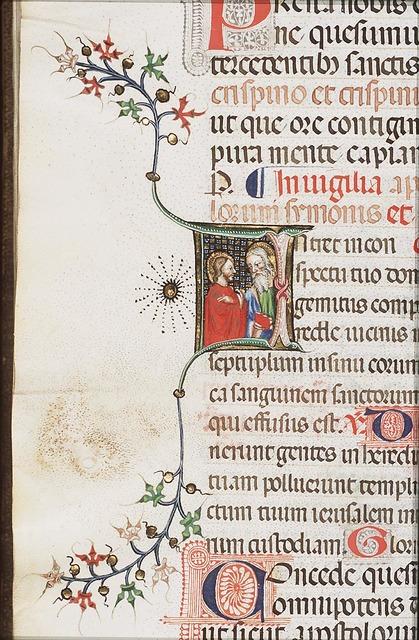 St. Simon Zelotes holding a book; St. Jude Thaddaeus