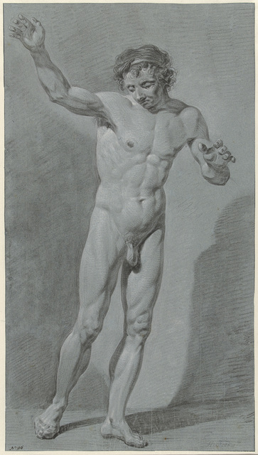 Staand mannelijk naakt