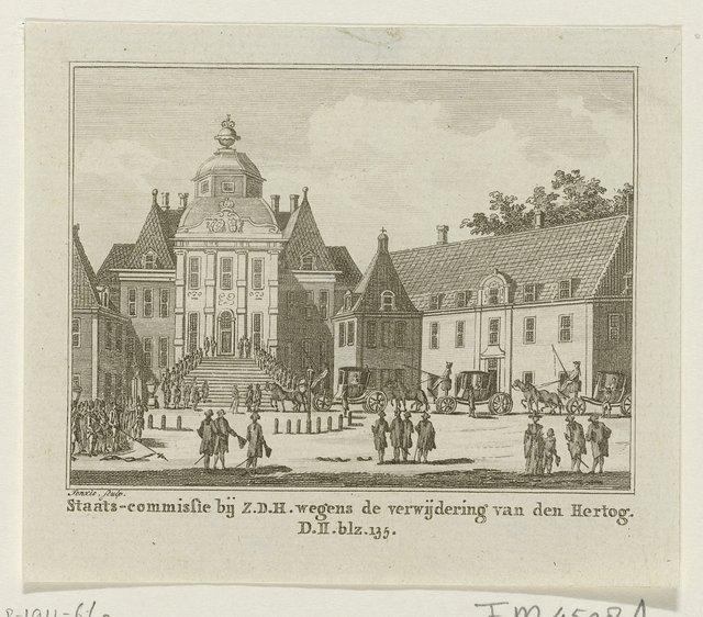 Staatscommissie bij de prins inzake de verwijdering van de hertog van Brunswijk, 1784