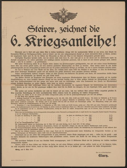Steirer, zeichnet die sechste Kriegsanleihe! - Graz