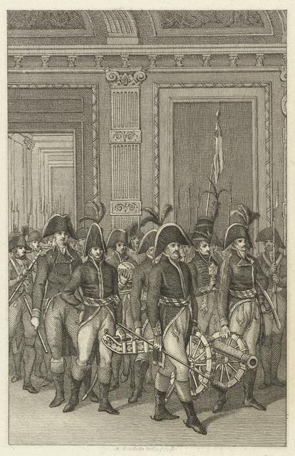 Teruggave door de Fransen van historische stukken uit stadhouderlijke collectie aan de Staten-Generaal, 1795