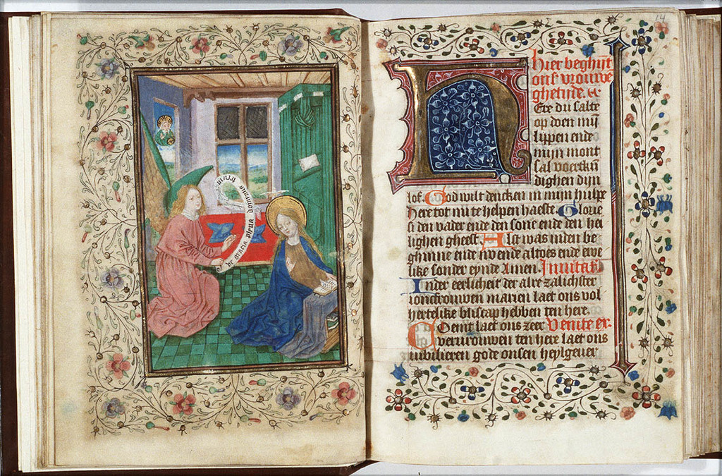 The Annunciation: Gabriel announces Christ's birth to Mary