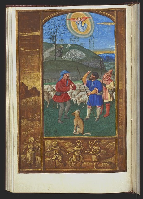 The annunciation of Christ's birth to the shepherds