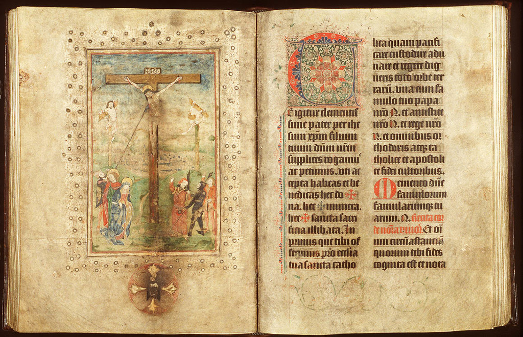 The Crucifixion, with Mary and St. John, the two malefactors, Longinus piercing Christ's side with a lance, the confessing centurion and soldiers