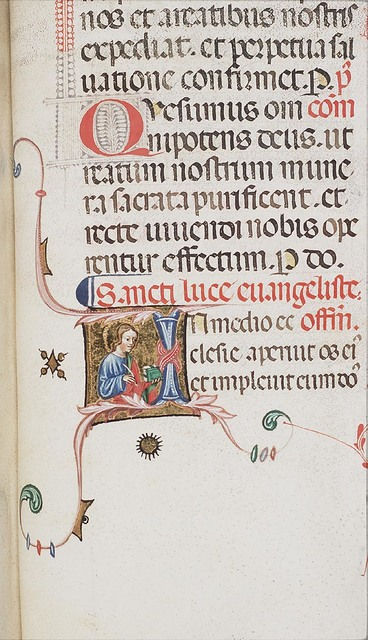 The Evangelist St. Luke holding a quill and a book