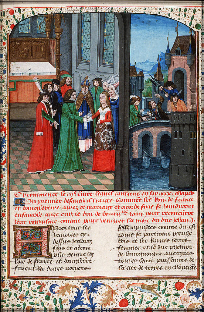 The marriage of Henry V and Catherine of France; the murder of Jean Sans Peur of Burgundy