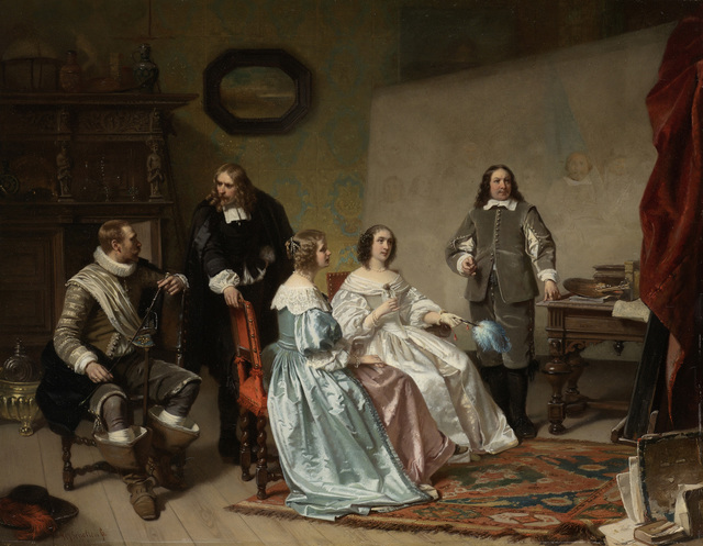 The Princess of Orange Visiting the Work-shop of Bartholomeus van der Helst