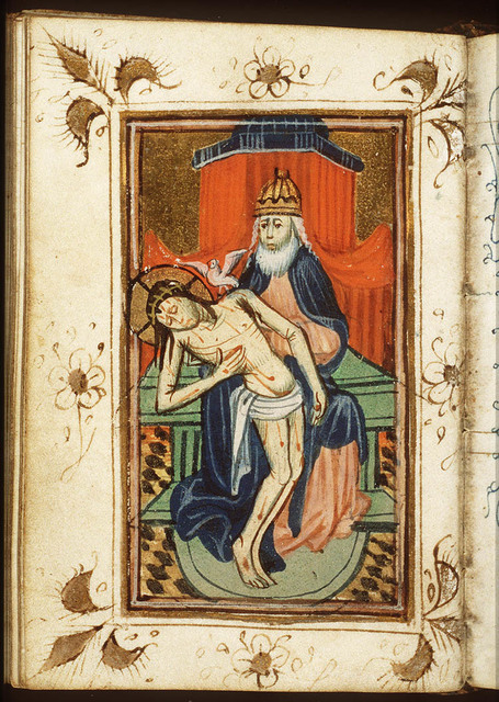 The Trinity: God the Father holding the body of Christ (Not Gottes)