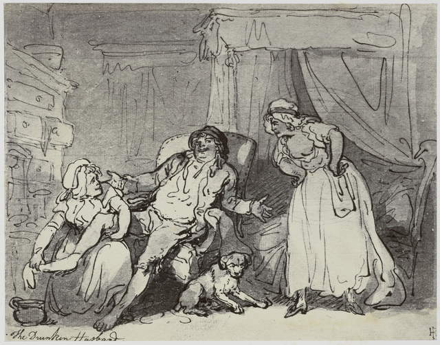 Thomas Rowlandson, The Drunken Husband