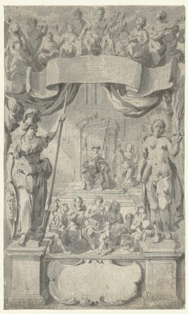 Titelblad met allegorische figuren
