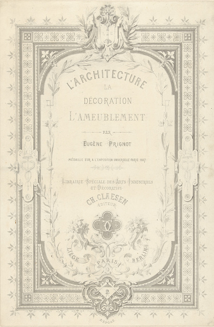 Titelblad voor L'architecture, la décoration, l'ameublement