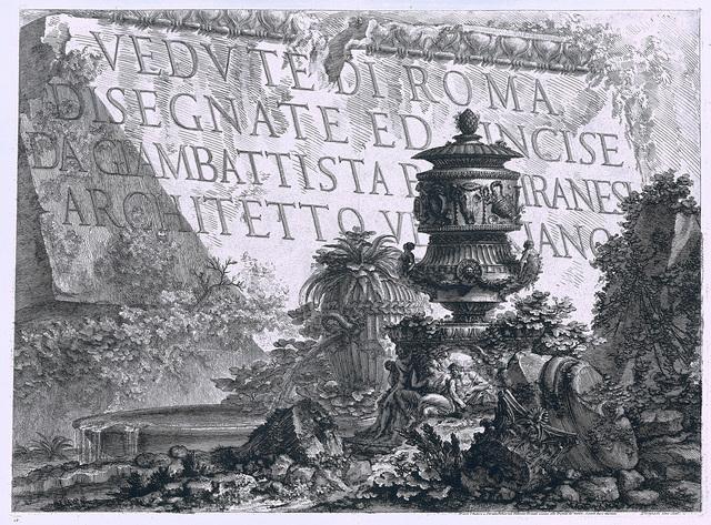 Titelpagina 'Vedute di Roma'