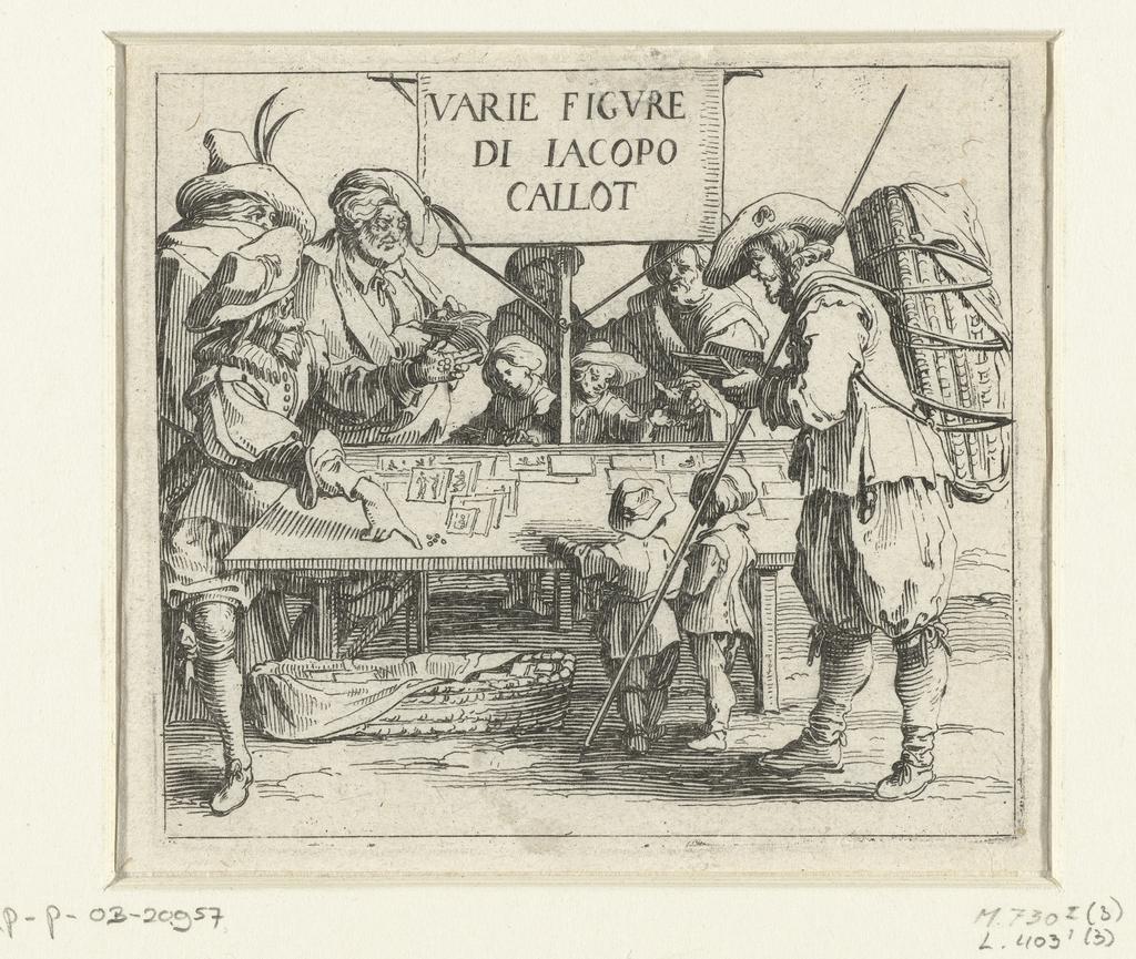 Titelprent voor prentserie 'Diverse figuren' / 'Varie figure di Jacopo Callot'