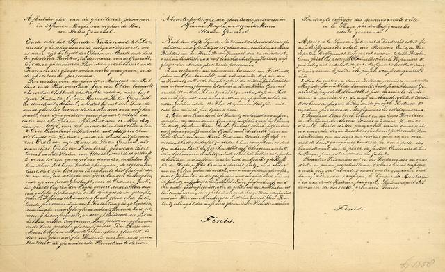 Transcriptie van de onderschriften bij de spotprent op Johan van Oldenbarnevelt en zijn medestanders, 1619