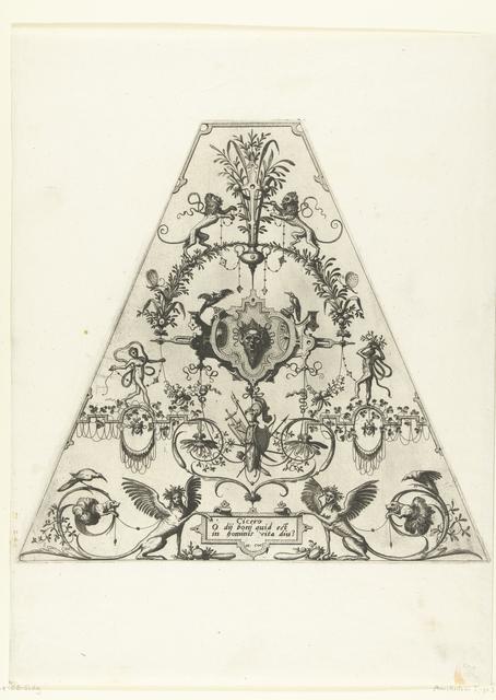 Trapeziumvormige vlakdecoratie met citaat van Cicero
