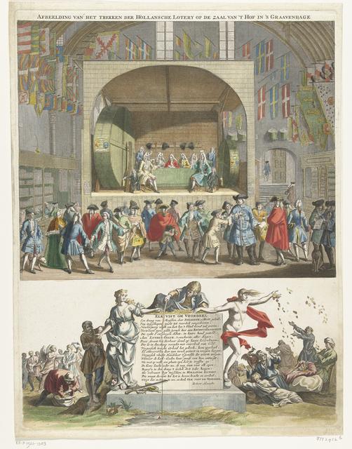 Trekking van de Hollandsche Loterij te Den Haag, 1696