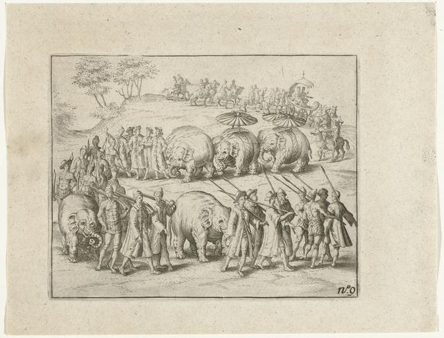 Triomfoptocht van de koning van Pegu, 1604