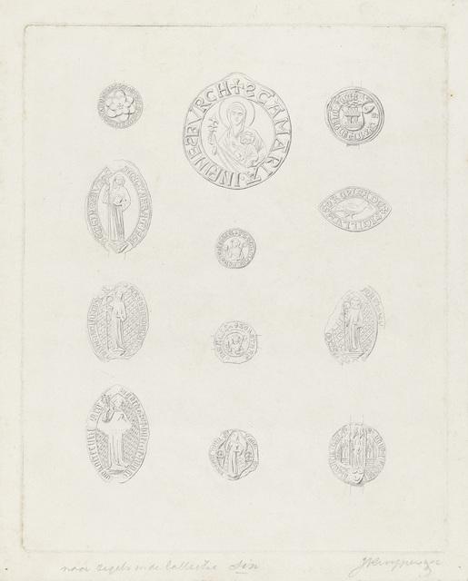 Twaalf zegels uit de collectie Six