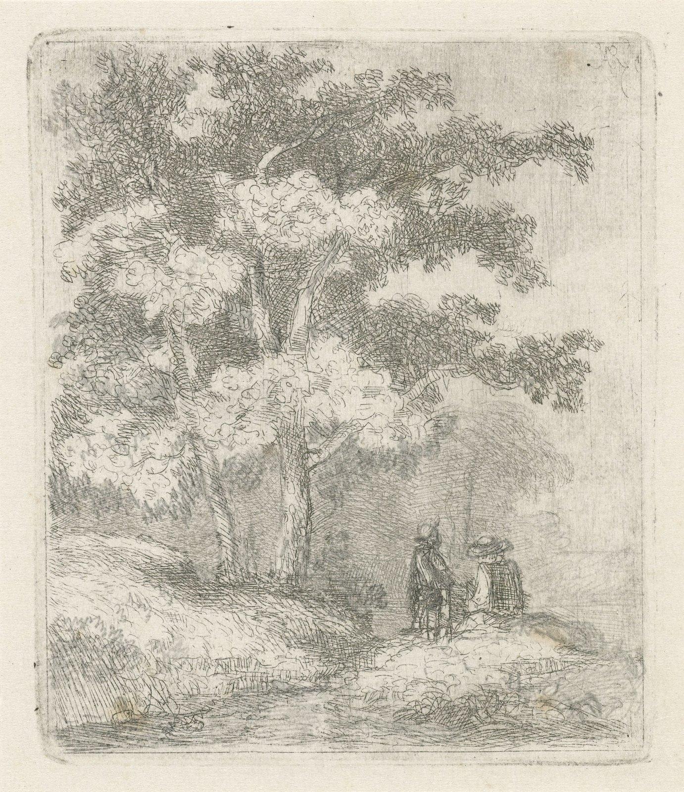 Twee mannen onder een boom