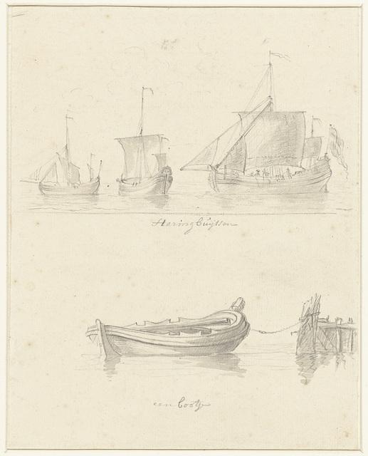 Twee voorstellingen van schepen