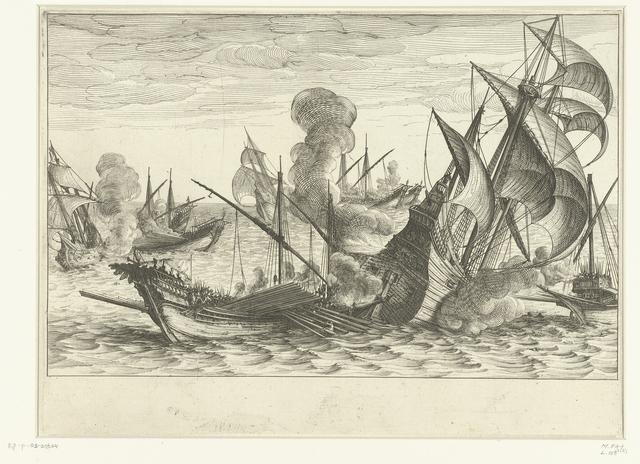 Tweede zeeslag van de vloot van Ferdinando I de' Medici tegen de Turkse vloot
