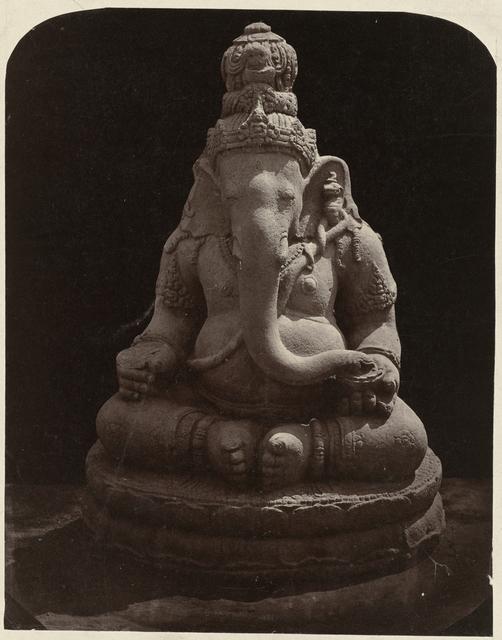 Two armed Ganesha (former Lichte collection). Yogyakarta, Yogyakarta district, D.I. Yogyakarta province, 9th century.