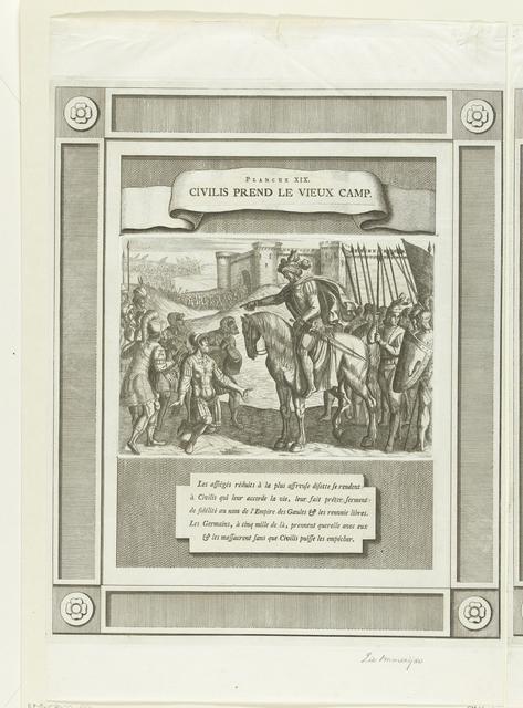 Uitgeputte Romeinse soldaten smeken Civilis om genade, 69-70