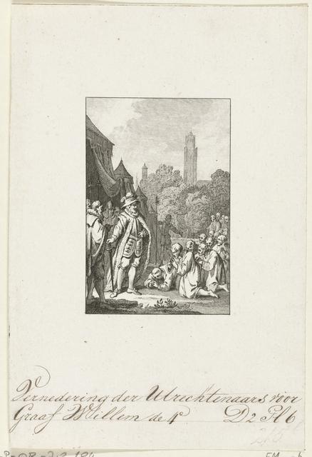 Utrechtenaren smeken graaf Willem IV om vrede, 1345