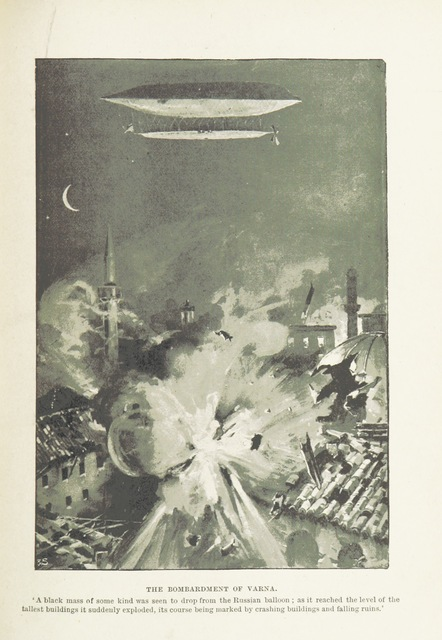 """Varna from """"The Great War of 189-. A forecast. By Rear-Admiral P. Colomb, Colonel J. F. Maurice, R.A., Captain F. N. Maude, Archibald Forbes, Charles Lowe, D. Christie Murray, and F. Scudamore. With illustrations from sketches specially made for """"Black and White"""" by F. Villiers"""""""