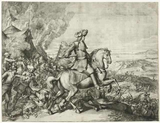Veldtocht van Christiaan V van Denemarken op het eiland Rügen (linkerhelft), 1677