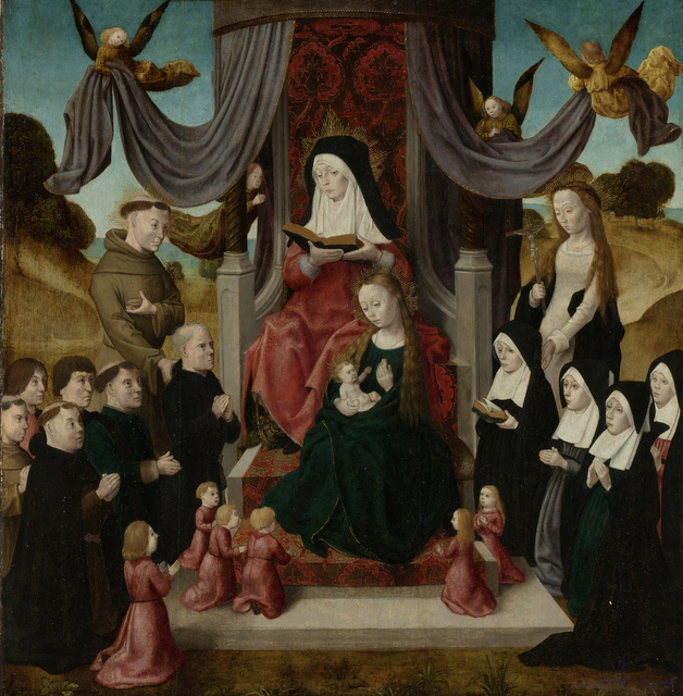 Virgin and Child with Saint Anne and Saints Francis and Lidwina, with Donors (Anna Selbdritt)