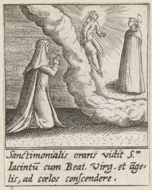 Visioen van de maagd Maria en de Heilige Hyacinthus van Polen