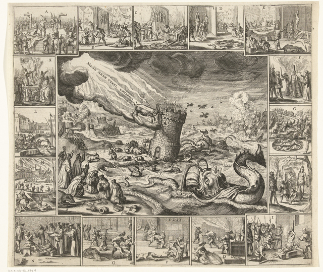 Visioen van de ondergang van Spanje, ca. 1630