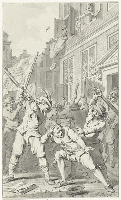 Volkswoede in Alkmaar tijdens het Kaas- en Broodoproer, 1492