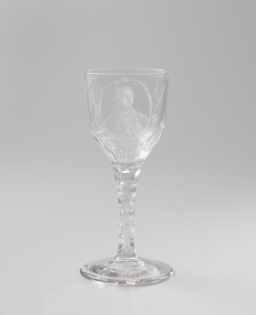 Wijnglas met een portret van Willem V