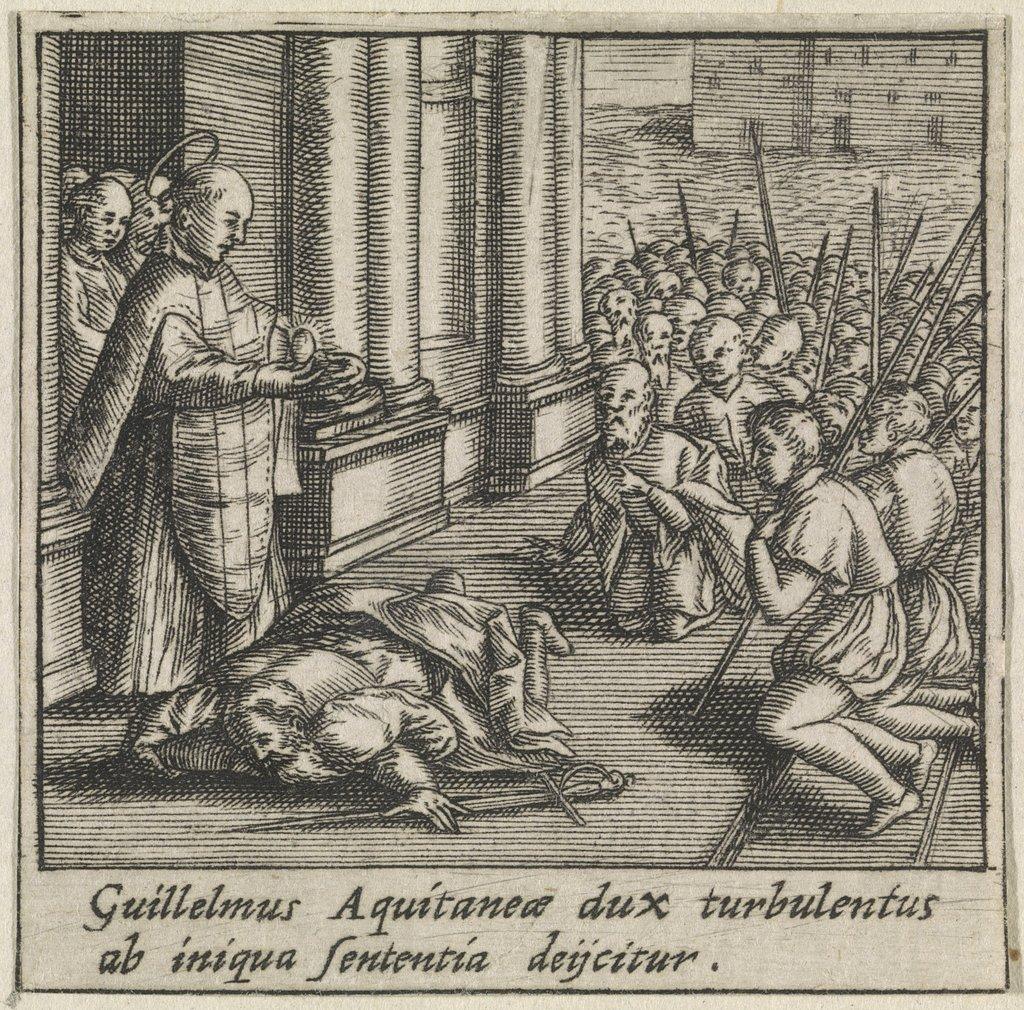 Willem Van Aquitanië Vraagt Vergiffenis Aan De Heilige