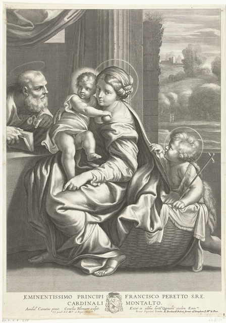 Zittende Madonna en Jozef met bril