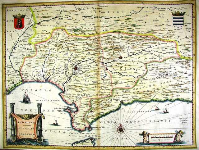 Andaluzia continens Sevillam et Cordubam [Material cartográfico]