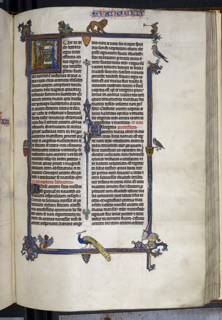 Annunciation to Zacharias from BL Royal 3 D VI, f. 234